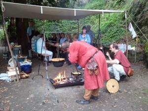Kochen an der Burg