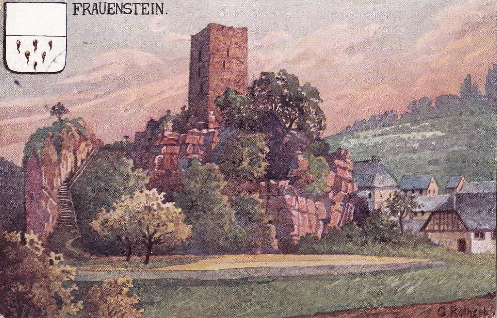 Gemälde der Burg auf einer Postkarte von 1910