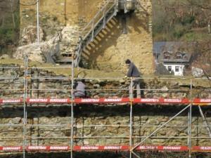 Sanierung der Burgmauer